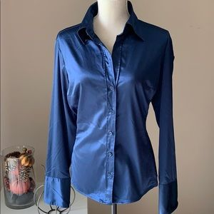 Navy blouse, L